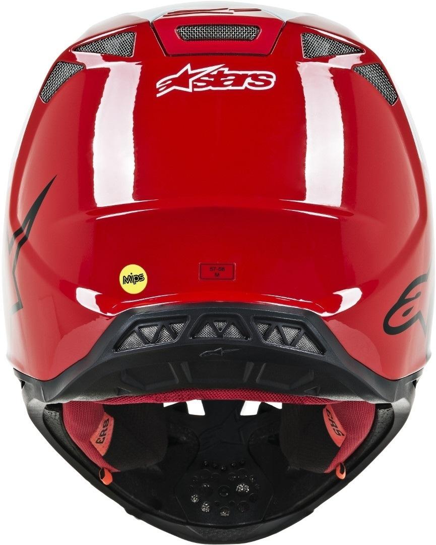 Casco cross alpinestars SUPERTECH S-M10 DYNO Red White Glossy 4