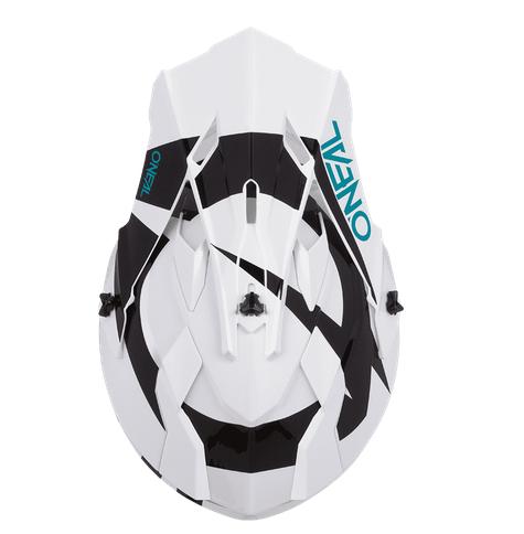 Casco cross enduro O'Neal Serie 2 SLICK white/black 4