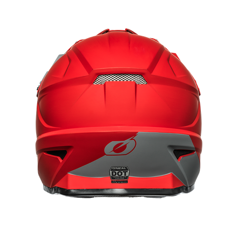 Casco cross enduro O'Neal serie 1 SOLID red 2