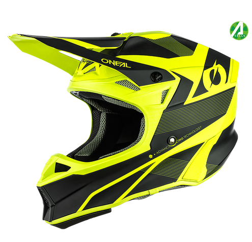 Casco cross enduro O'Neal serie 10 Hyperlite COMPACT black/neon yellow 1