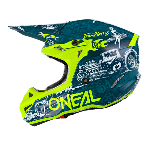 Casco cross enduro O'Neal serie 5 Polyacrylite HR blue/neon yellow 1