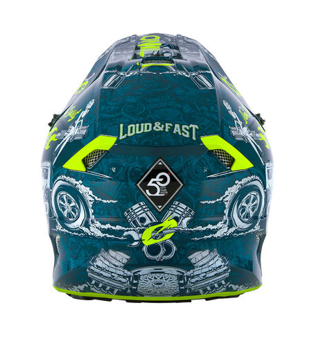 Casco cross enduro O'Neal serie 5 Polyacrylite HR blue/neon yellow 4