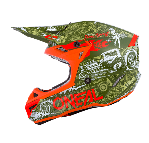 Casco cross enduro O'Neal serie 5 Polyacrylite HR green/orange 1