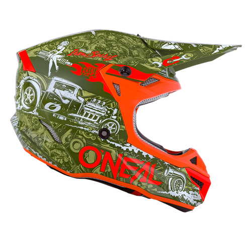 Casco cross enduro O'Neal serie 5 Polyacrylite HR green/orange 2