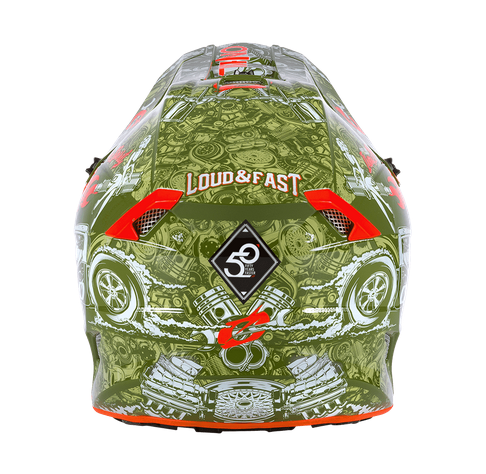 Casco cross enduro O'Neal serie 5 Polyacrylite HR green/orange 4