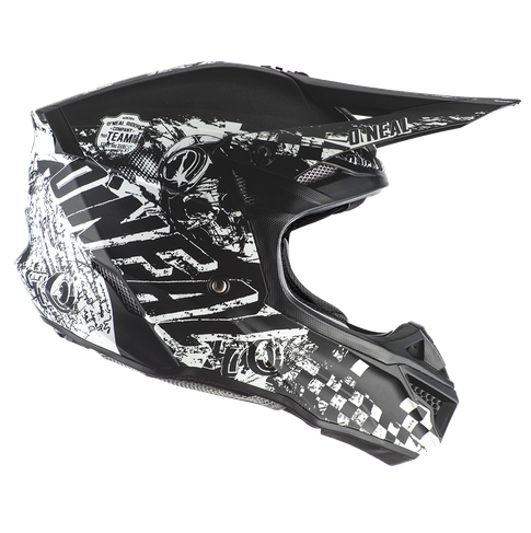 Casco cross enduro O'Neal serie 5 Polyacrylite RIDER black/white 2