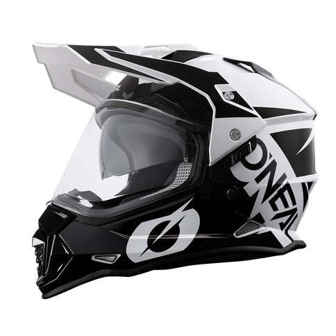 Casco dual road O'Neal Sierra R black/white 1