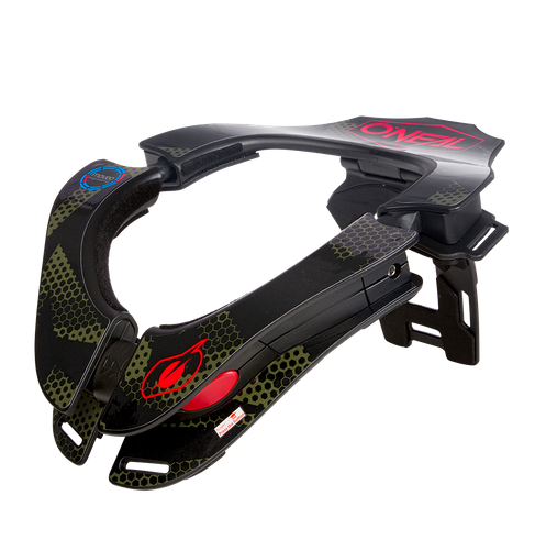 Collare protettivo cross enduro O'Neal TRON Neckbrace COVERT black/green 1