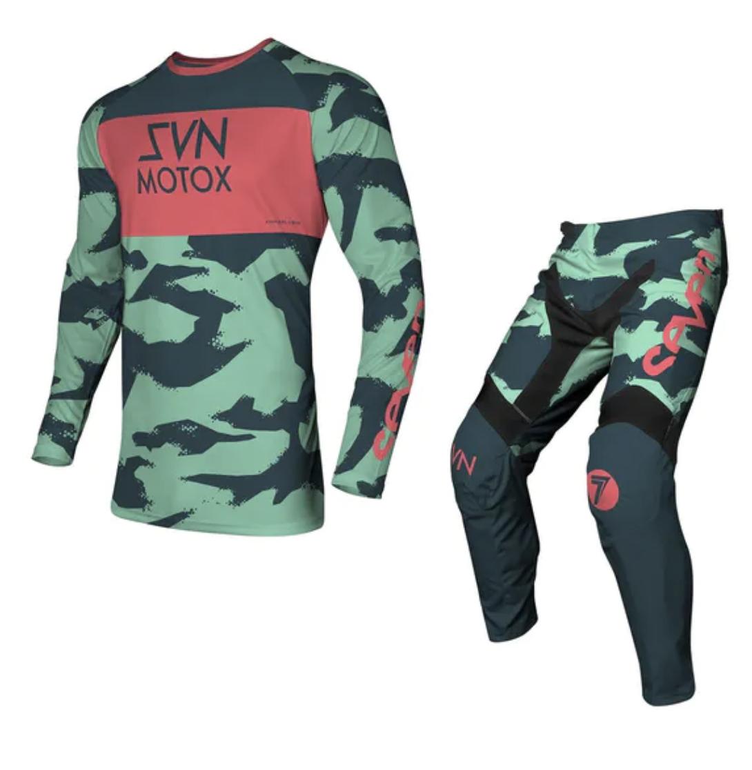 Completo cross Seven VOX PURSUIT Mint 2021 pantaloni+maglia 1