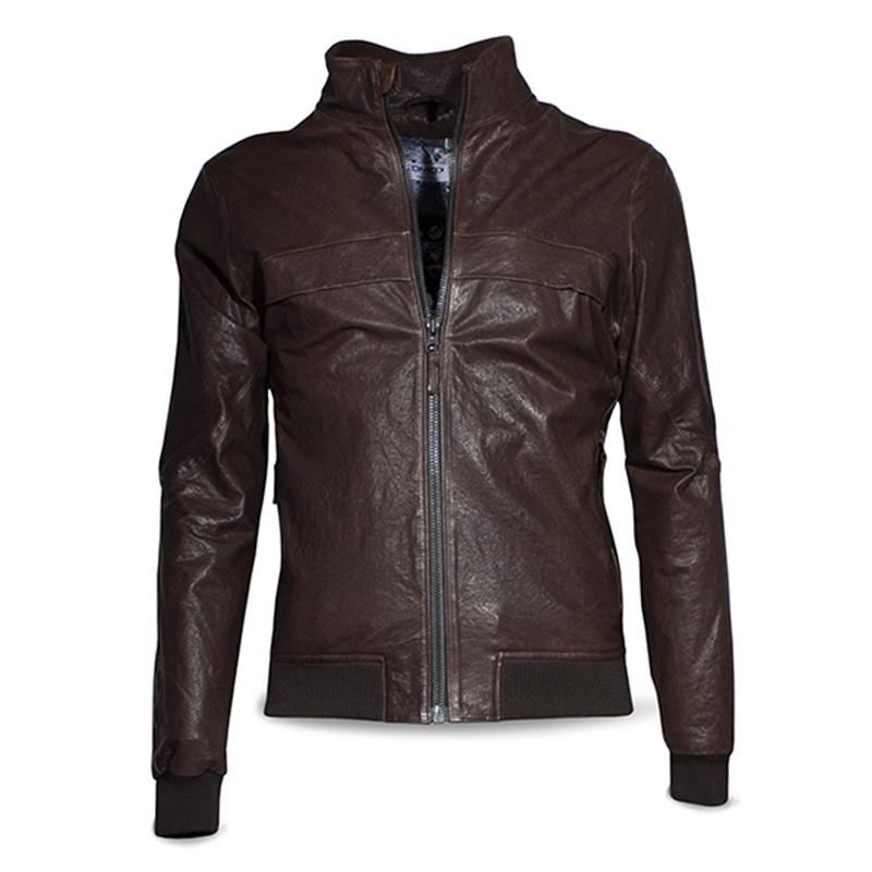 Giubbino pelle Vintage Dmd Bunny Brown Leather 2