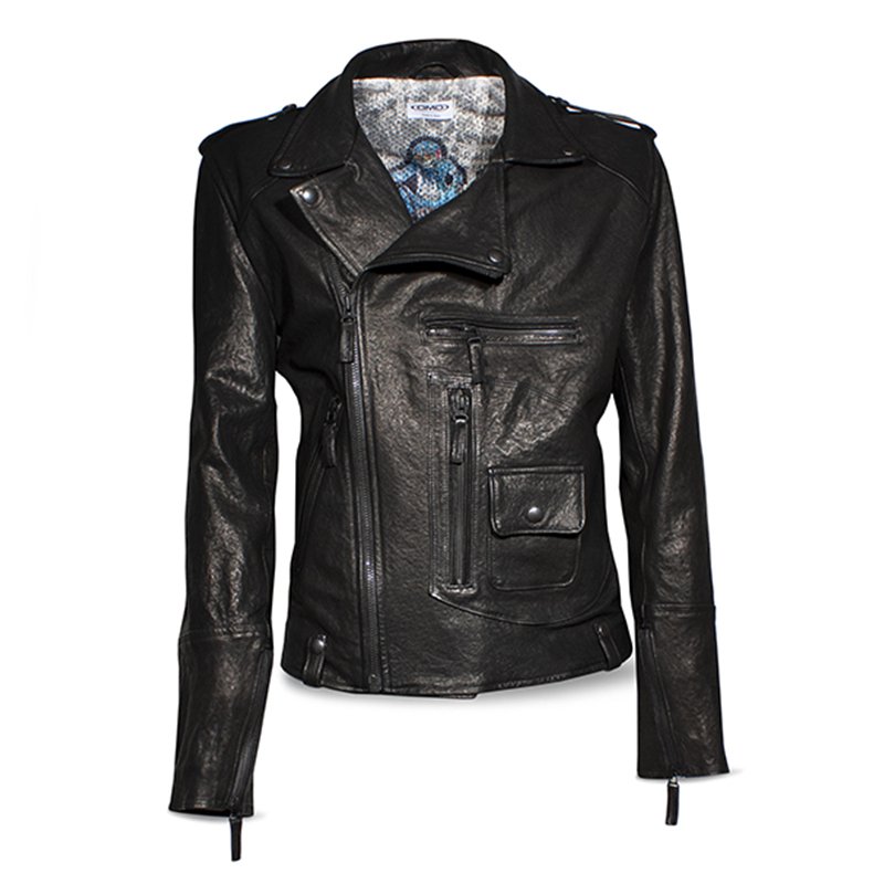Giubbino pelle Vintage Dmd Chiodo Black Leather 2
