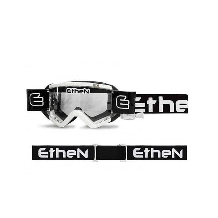 Occhiali (maschera) cross Roll Off Ethen 05 MUD Mask Bianco Nero 1