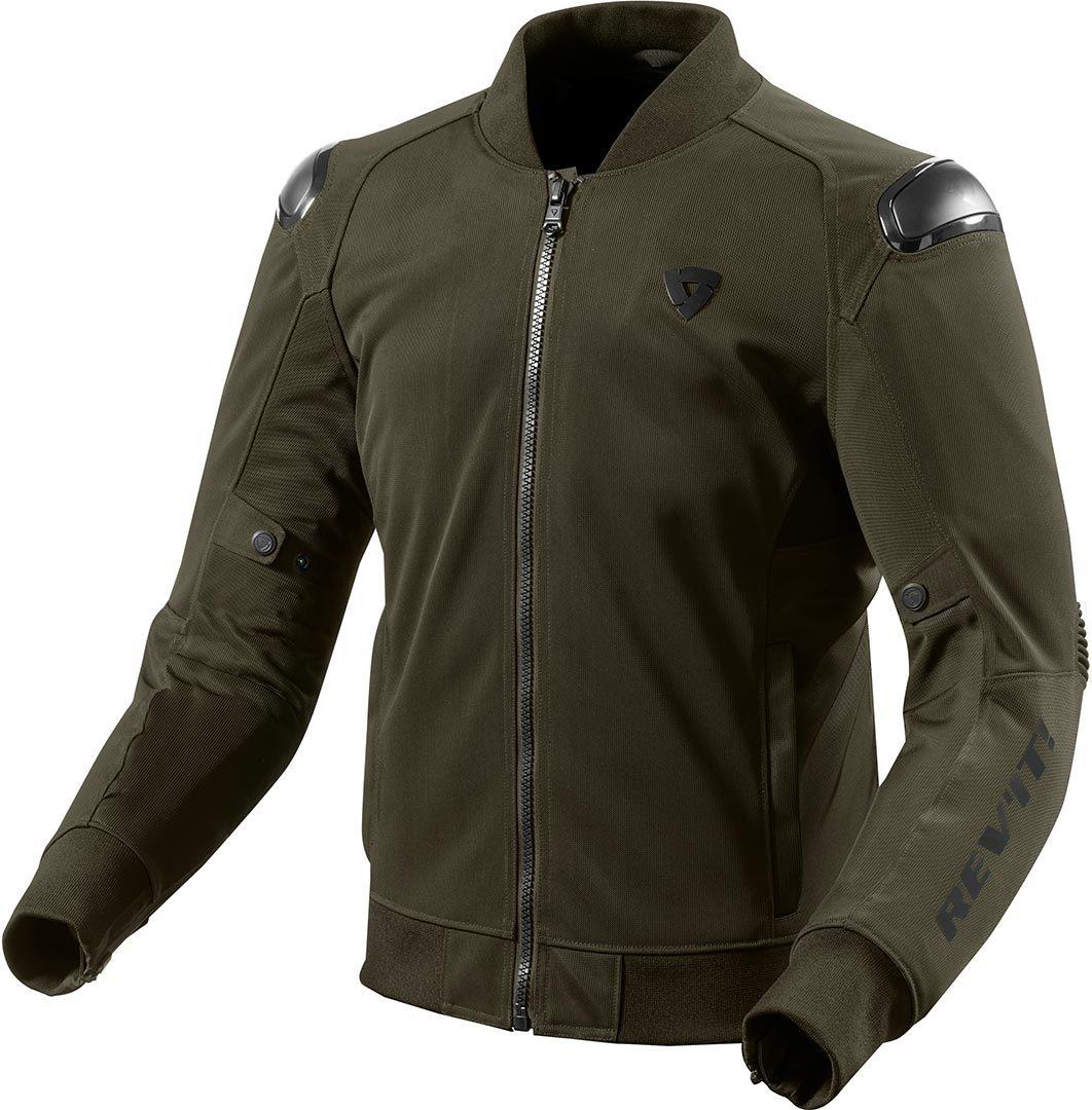 Giubbino moto ventilato Rev'it TRACTION Verde Militare 1