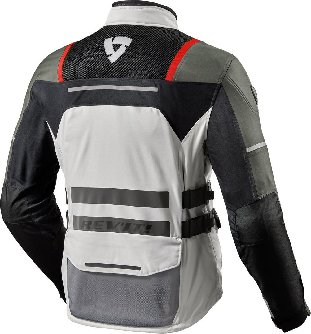 Giacca moto Rev'it OFFTRACK Argento Rosso 2