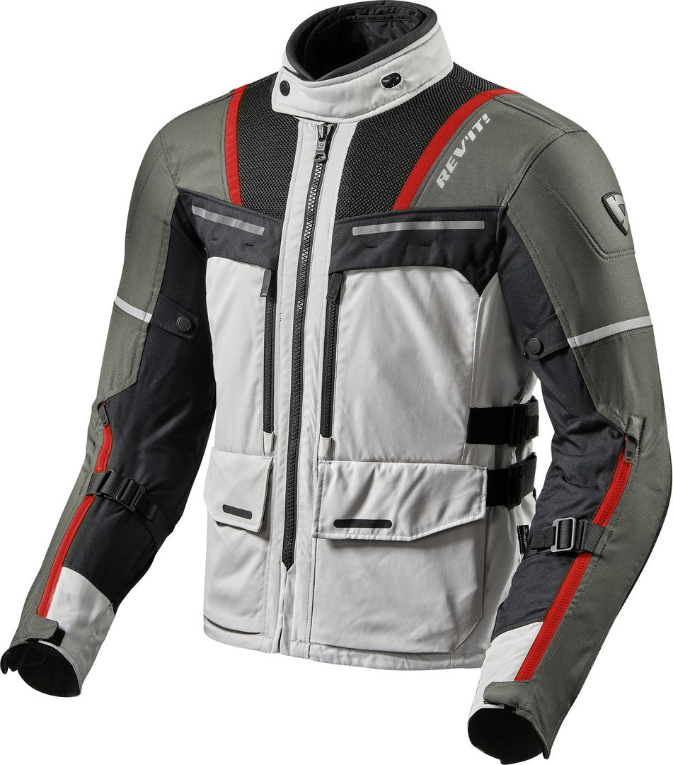 Giacca moto Rev'it OFFTRACK Argento Rosso 1