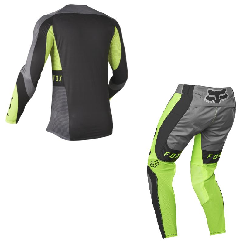 Completo cross enduro Fox FLEXAIR MIRER black yellow 2022 pantaloni+maglia 2