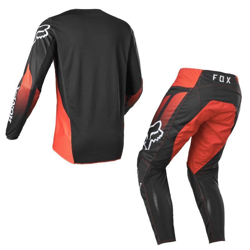 Completo cross enduro Fox 180 HONDA 2022 red black pantaloni+maglia 2