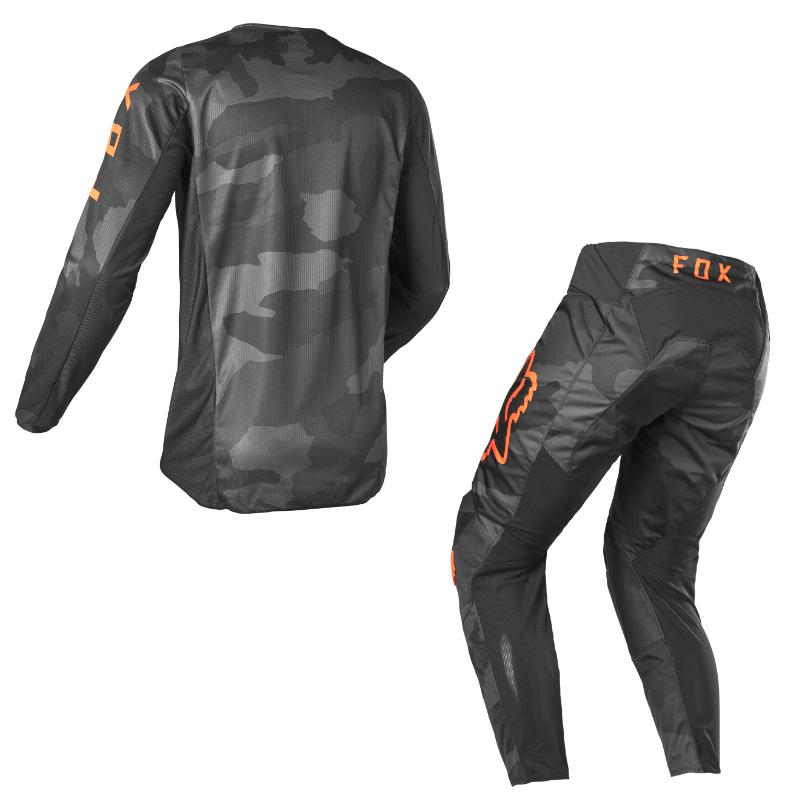 Completo cross enduro Fox 180 TREV black camo 2022 pantaloni+maglia 2