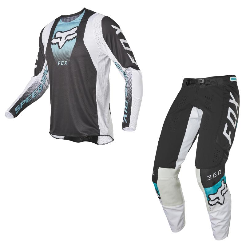 Completo cross enduro Fox 360 DIER Black 2022 pantaloni+maglia 1