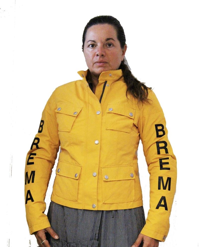 Giacca moto donna Brema SILVER VASE J-Women Giallo Ocra 1