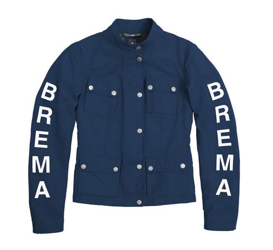 Giacca moto donna Brema SILVER VASE J-Women Blu Navy 1