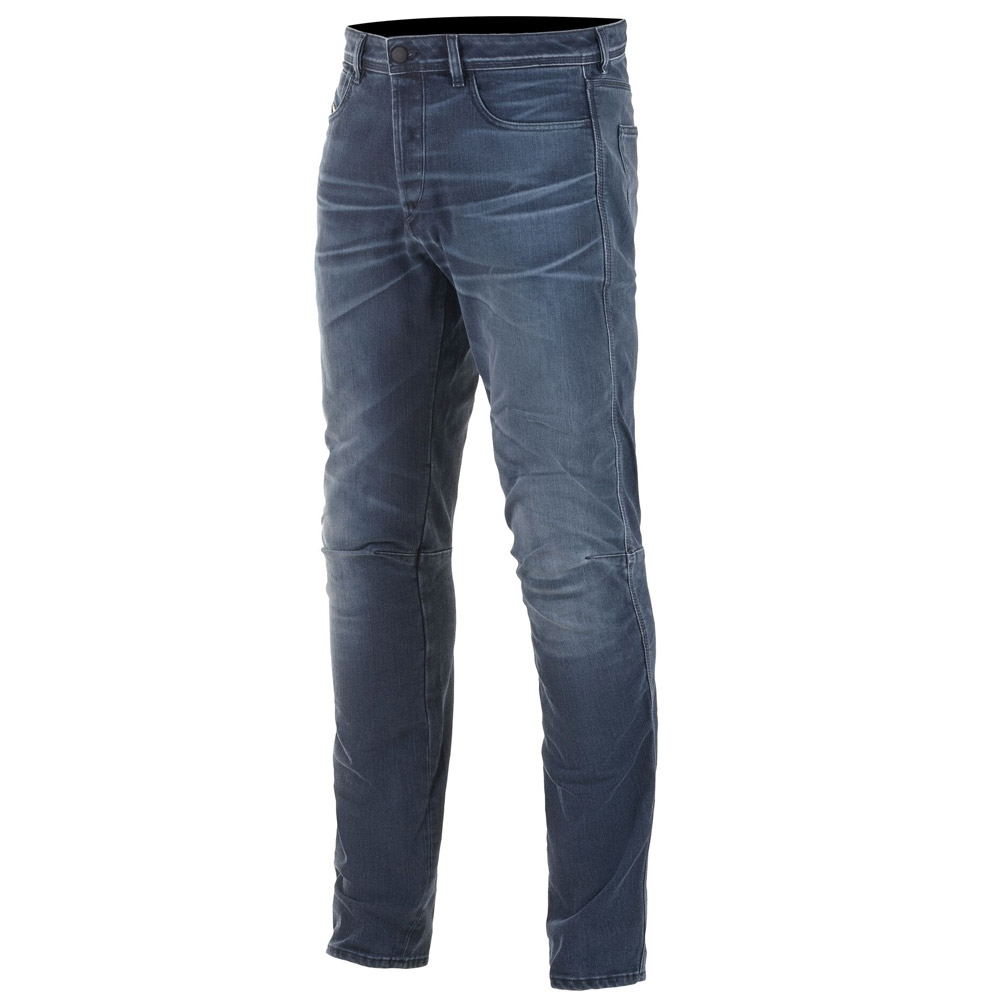 Jeans da moto con protezioni Alpinestars AS-DSL SHIRO RID DENIM blue 1