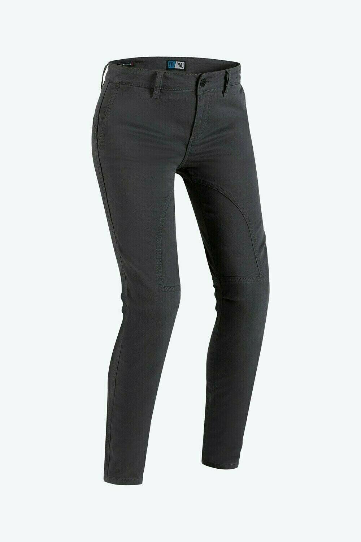 Jeans da moto donna con protezioni e Twaron® PMJ SANTIAGO LADY Grigio 1
