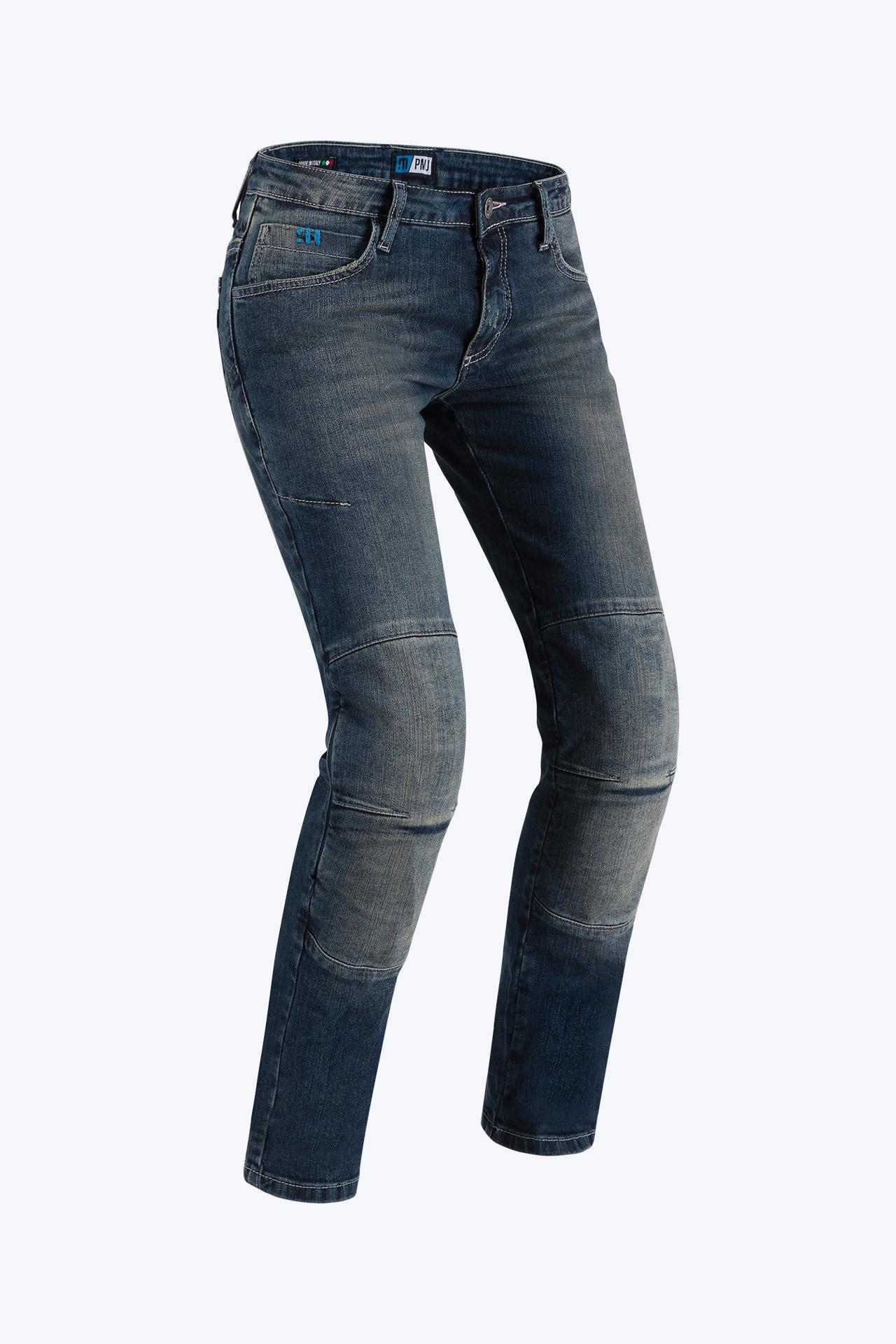 Jeans da moto donna con protezioni e Twaron® PMJ FLORIDA medio 1