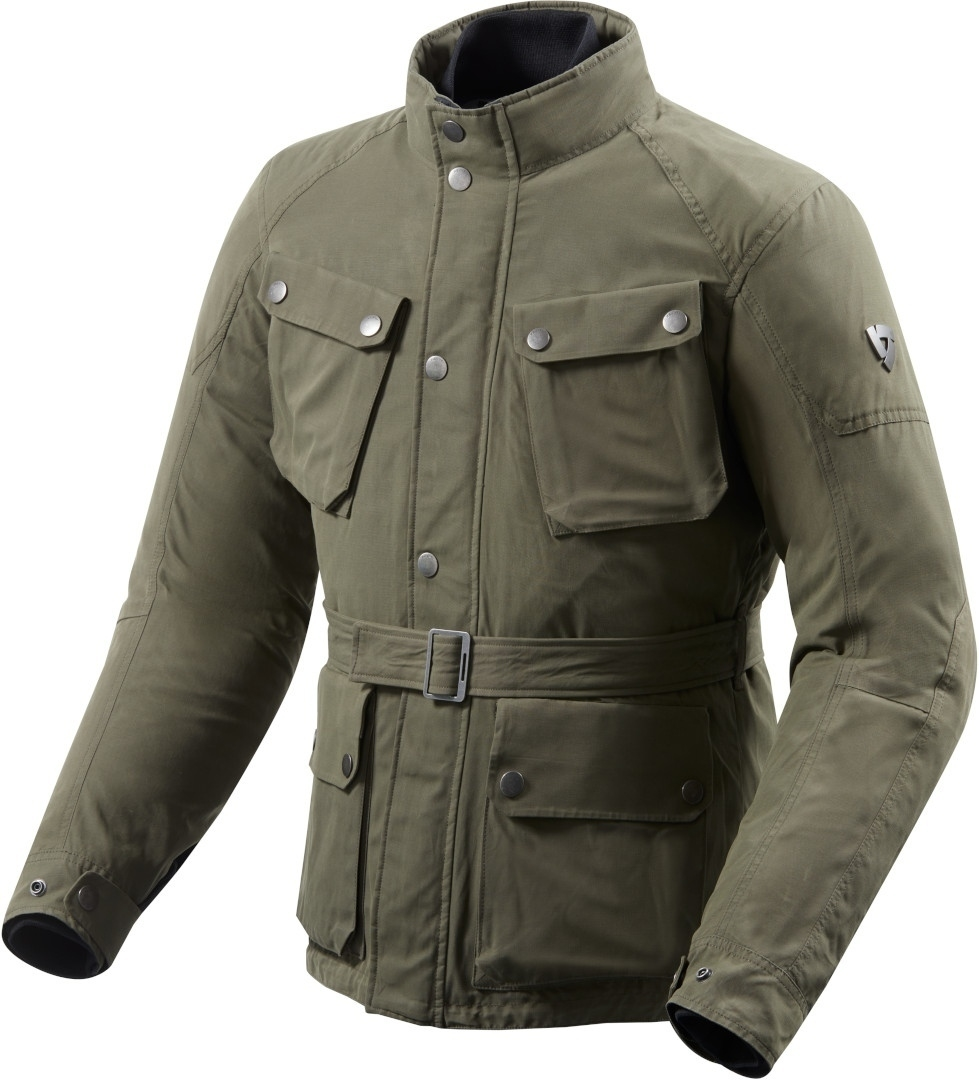Giacca moto urbana Rev'it LIVINGSTONE Verde 1