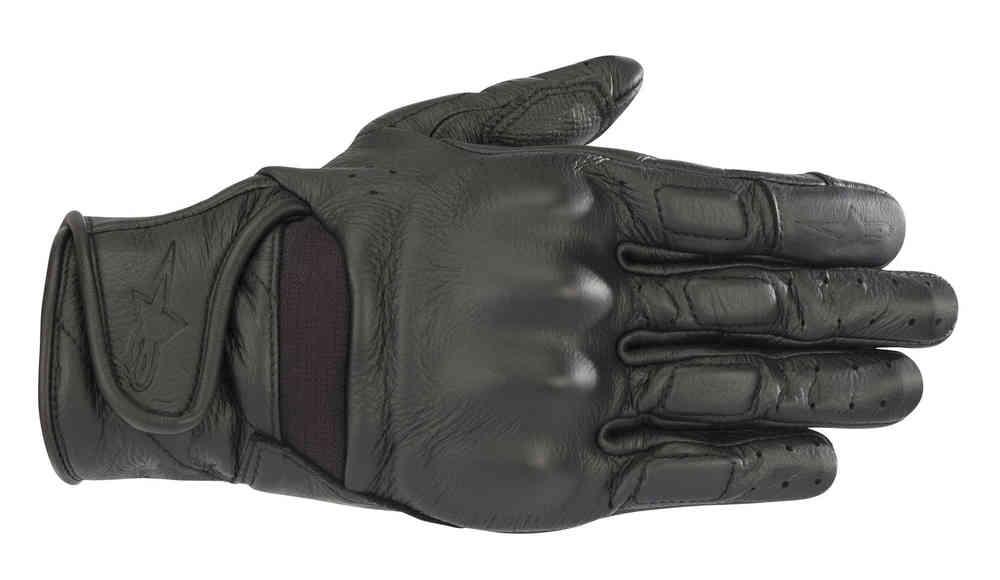 Guanti moto donna pelle con protezioni Alpinestars STELLA VIKA nero 1