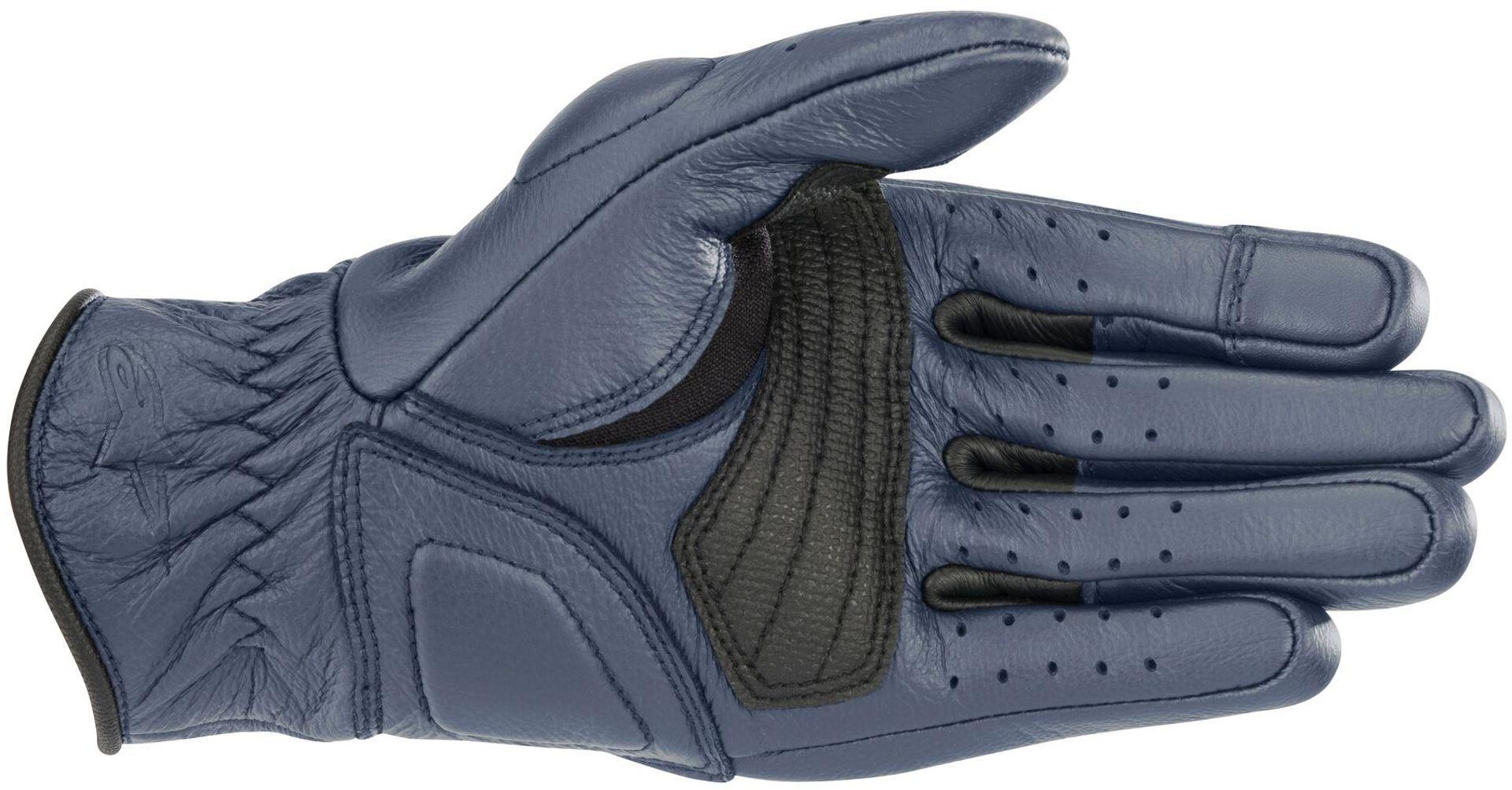 Guanti moto donna pelle con protezioni Alpinestars STELLA VIKA Blu Metallico 2