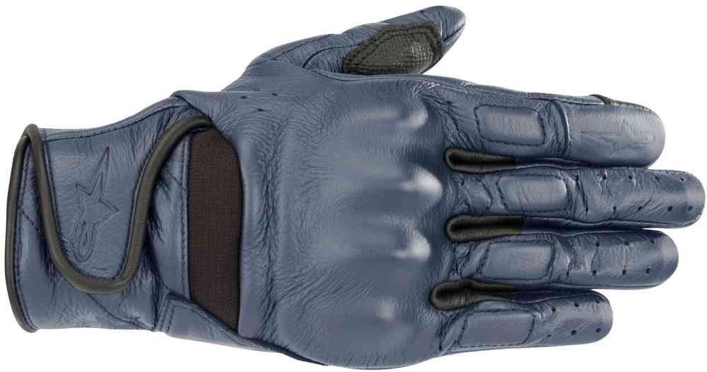 Guanti moto donna pelle con protezioni Alpinestars STELLA VIKA Blu Metallico 1