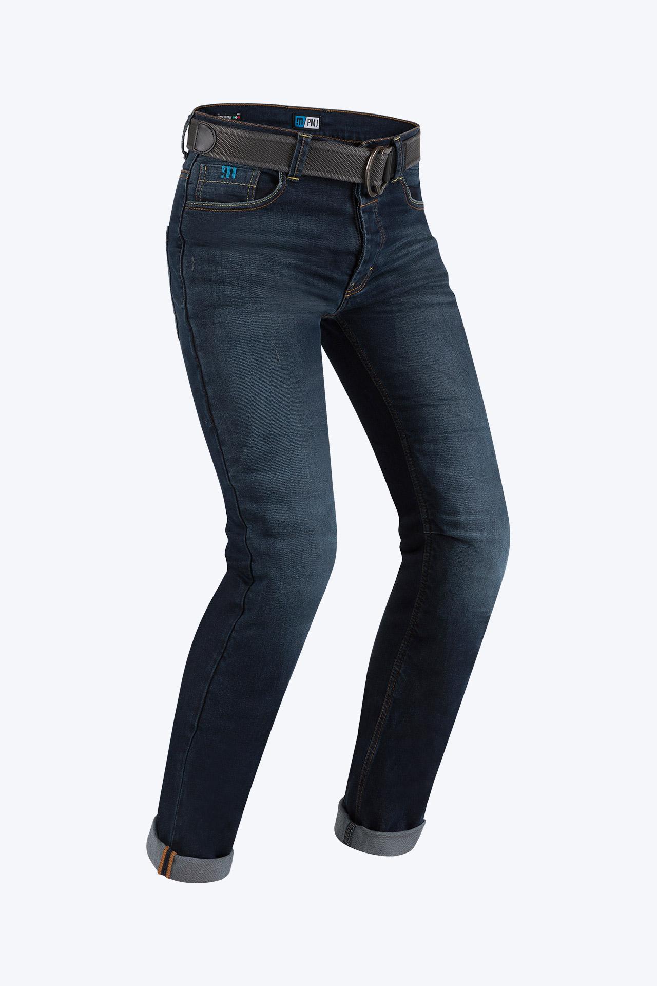 Jeans da moto con protezioni e Twaron® PMJ CAFERACER Blu 1