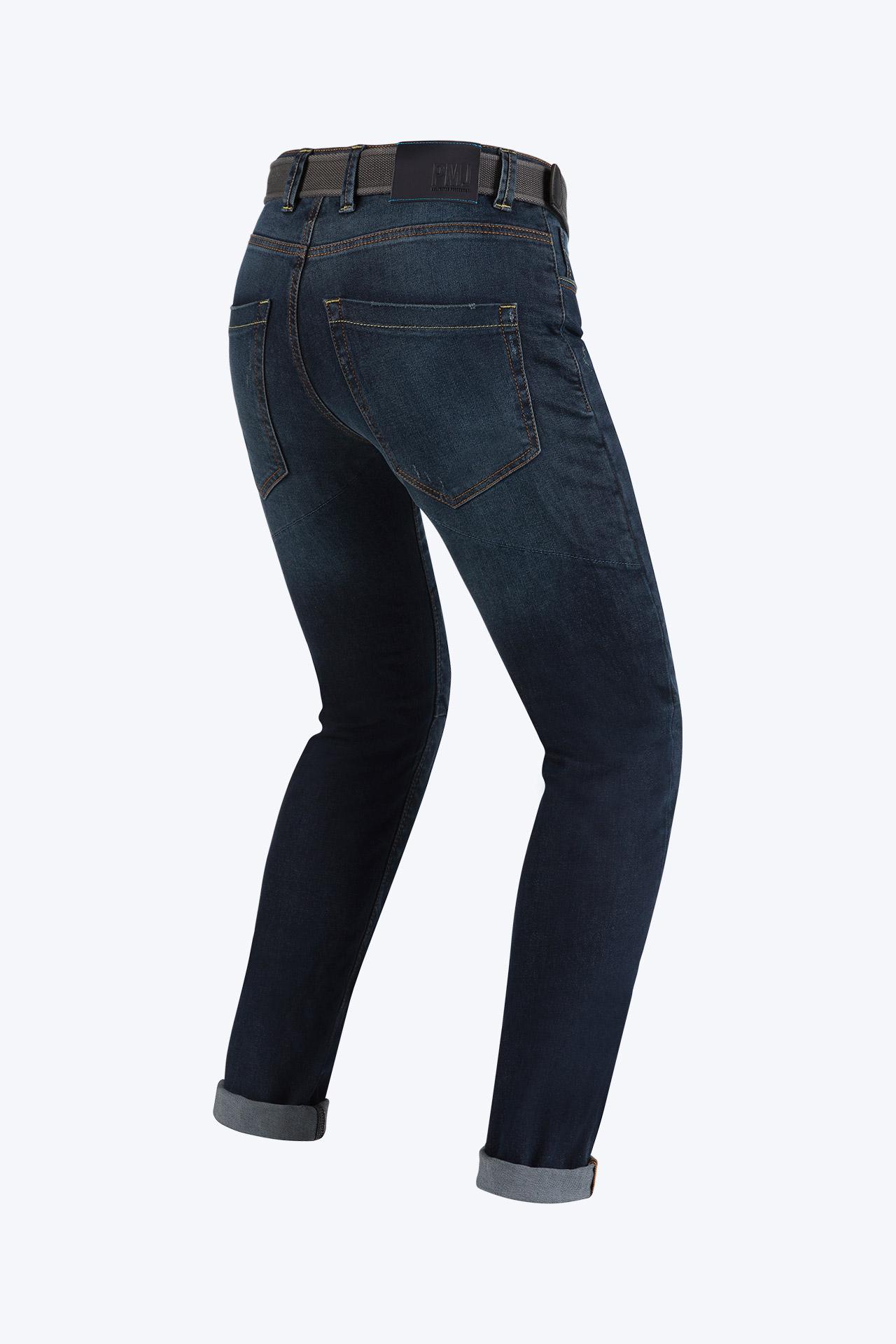Jeans da moto con protezioni e Twaron® PMJ CAFERACER Blu 2