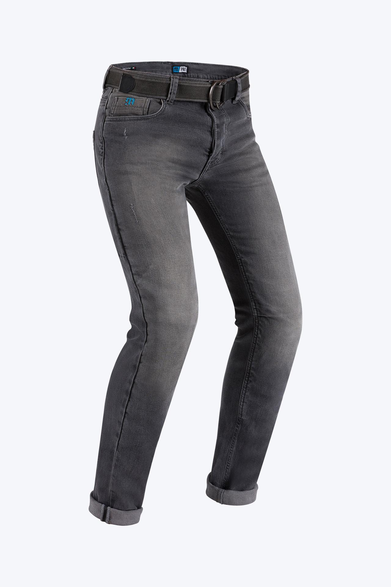 Jeans da moto con protezioni e Twaron® PMJ CAFERACER Grigio 1