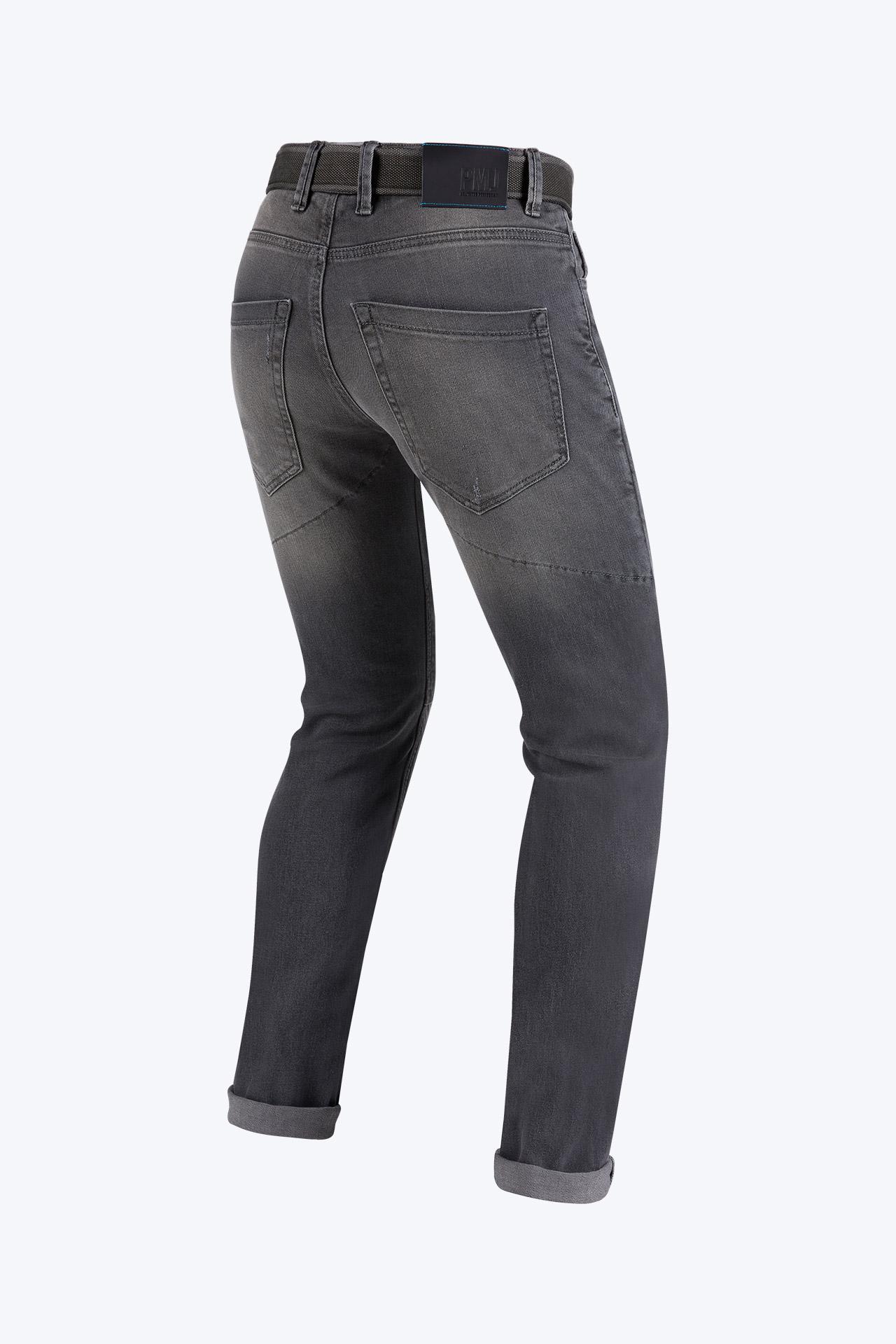 Jeans da moto con protezioni e Twaron® PMJ CAFERACER Grigio 2