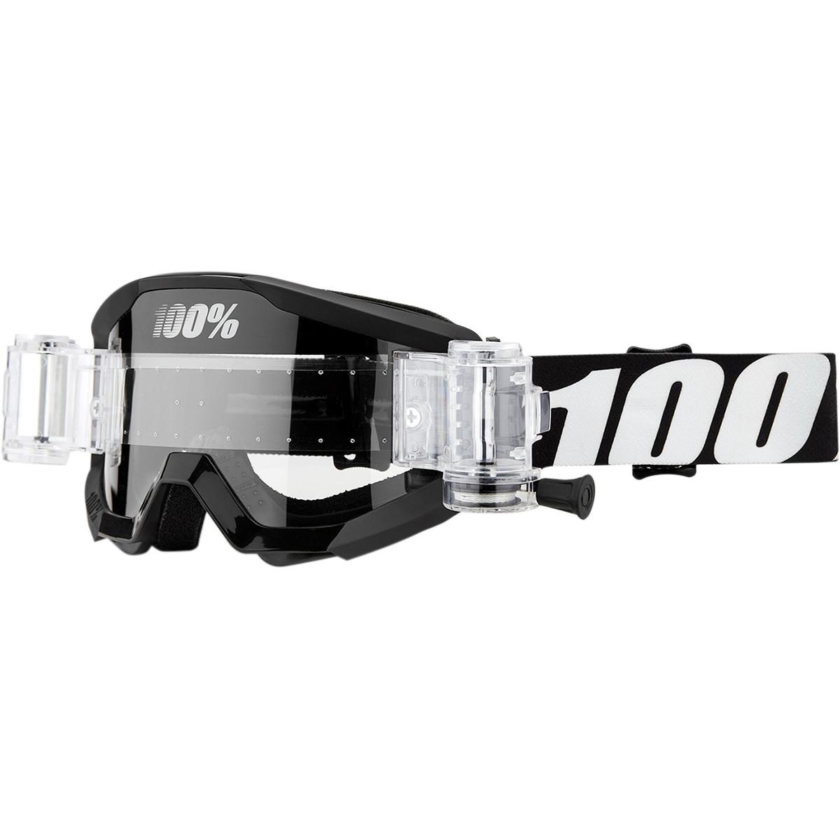 Occhiali (maschera) cross ROLL OFF 100% STRATA MUD OUTLAW Black 1