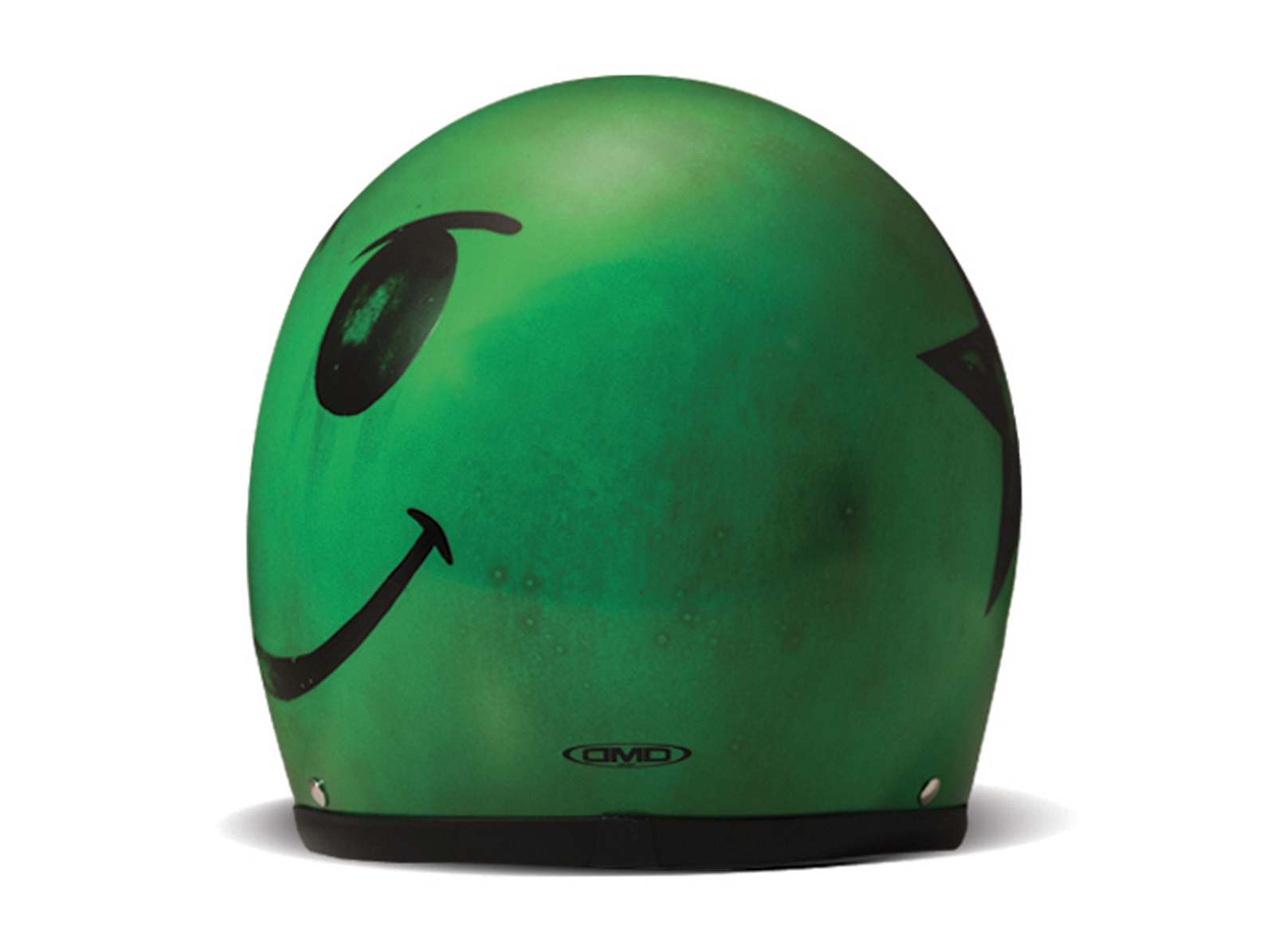 Casco jet Dmd VINTAGE Handmade SMILE Acid Green 3