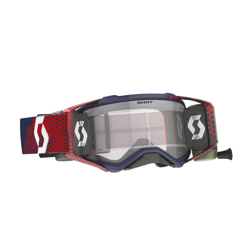 Occhiali (maschera) cross Scott PROSPECT WFS red blue con Roll Off 1