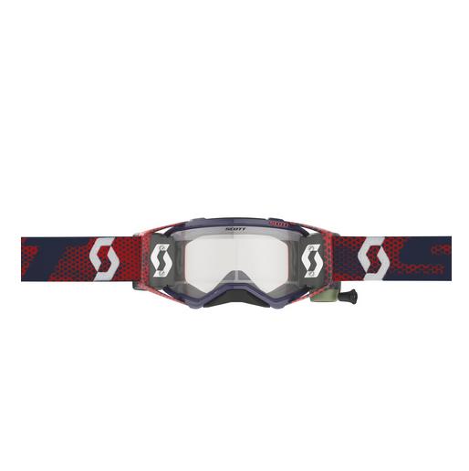 Occhiali (maschera) cross Scott PROSPECT WFS red blue con Roll Off 3
