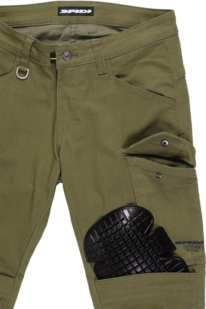 Jeans da moto con protezioni Spidi PATHFINDER CARGO Verde Militare 4