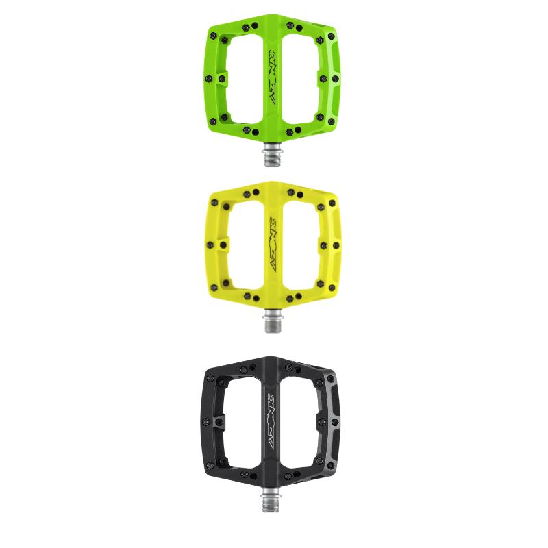 Coppia pedali mtb piatti in nylon Azonic BLAZE vari colori 1