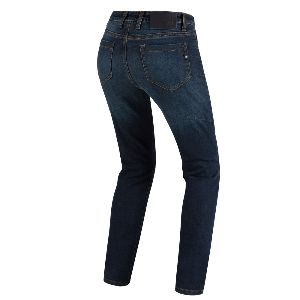 Jeans da moto donna con protezioni e Twaron® Pmj CAFE RACER LADY Blu 2