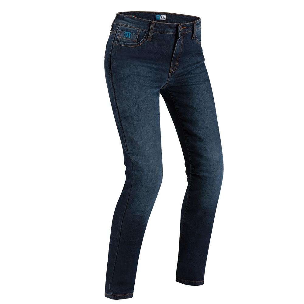 Jeans da moto donna con protezioni e Twaron® Pmj CAFE RACER LADY Blu 1