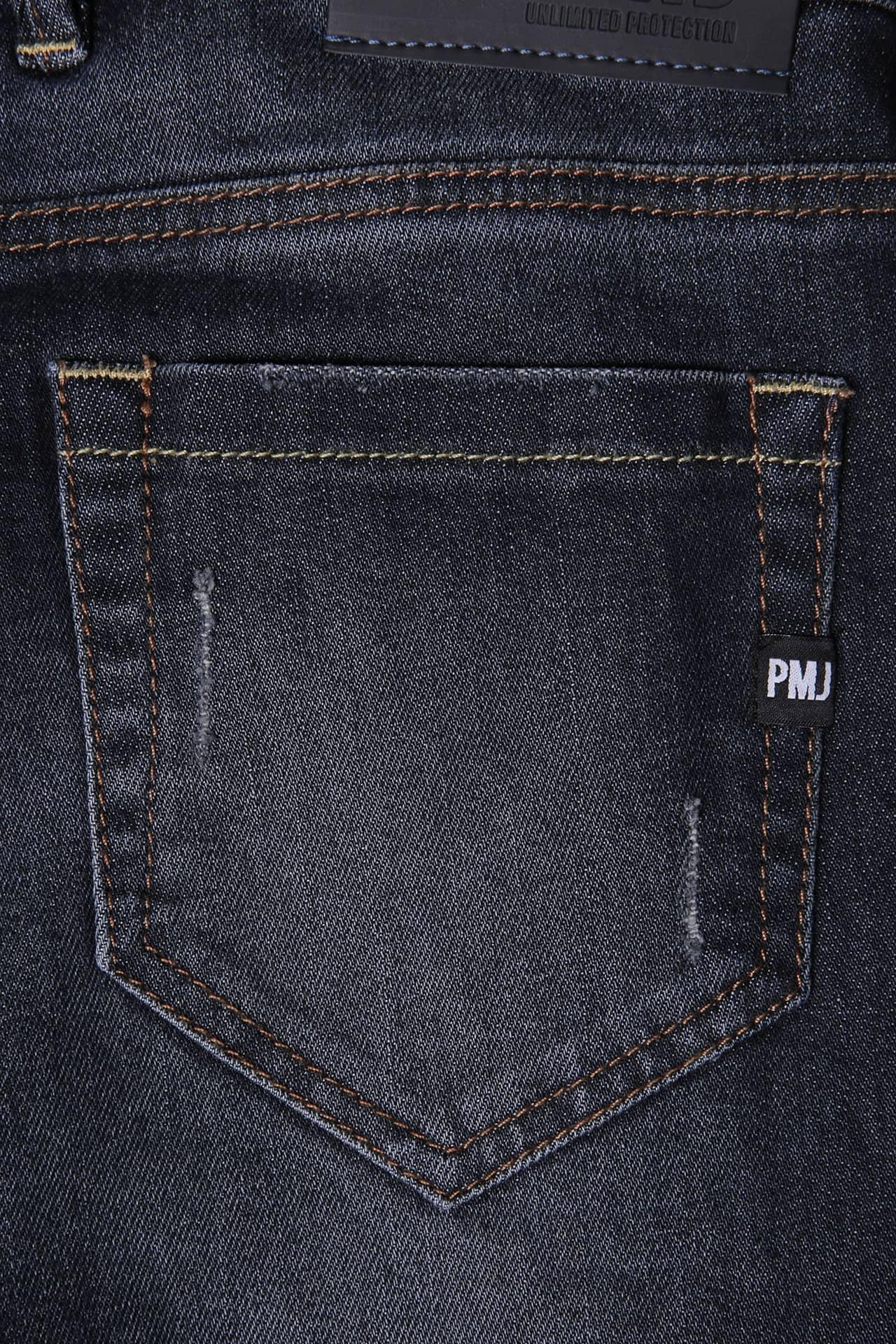 Jeans da moto donna con protezioni e Twaron® Pmj CAFE RACER LADY Blu 4