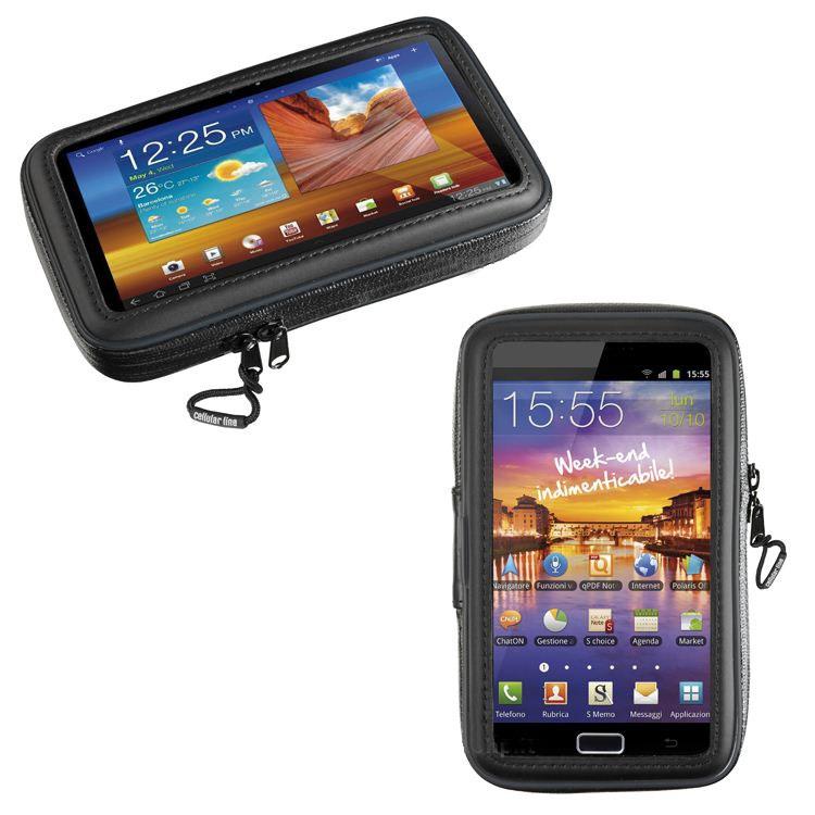 """Porta smartphone da moto universale 5,4"""" universale per manubri tubolari Cellular Line SM54 1"""