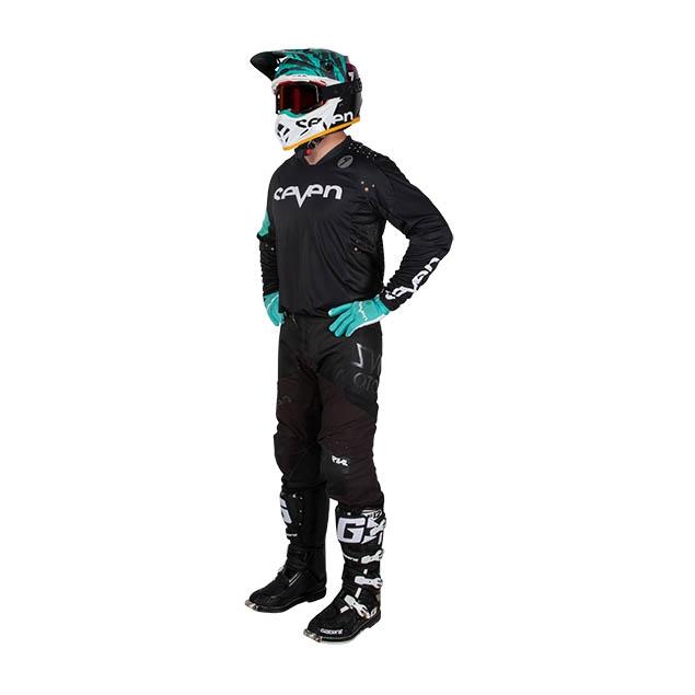 Completo cross Seven Rival Trooper 2 Nero 2020 pantaloni+maglia 1