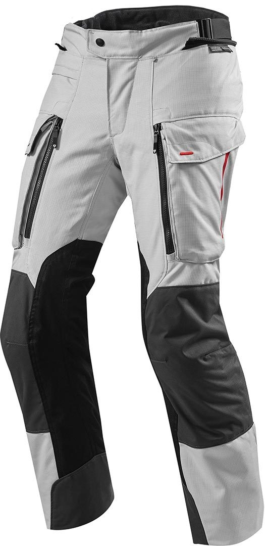 Pantaloni moto Rev'it SAND 3 argento nero 1