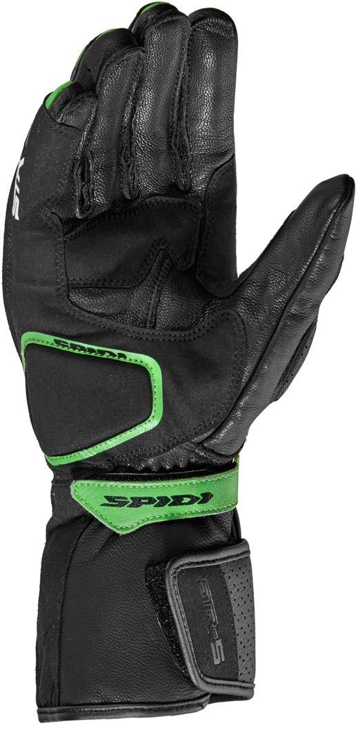 Guanti pelle moto con protezioni Spidi STR-5 Nero Verde 3