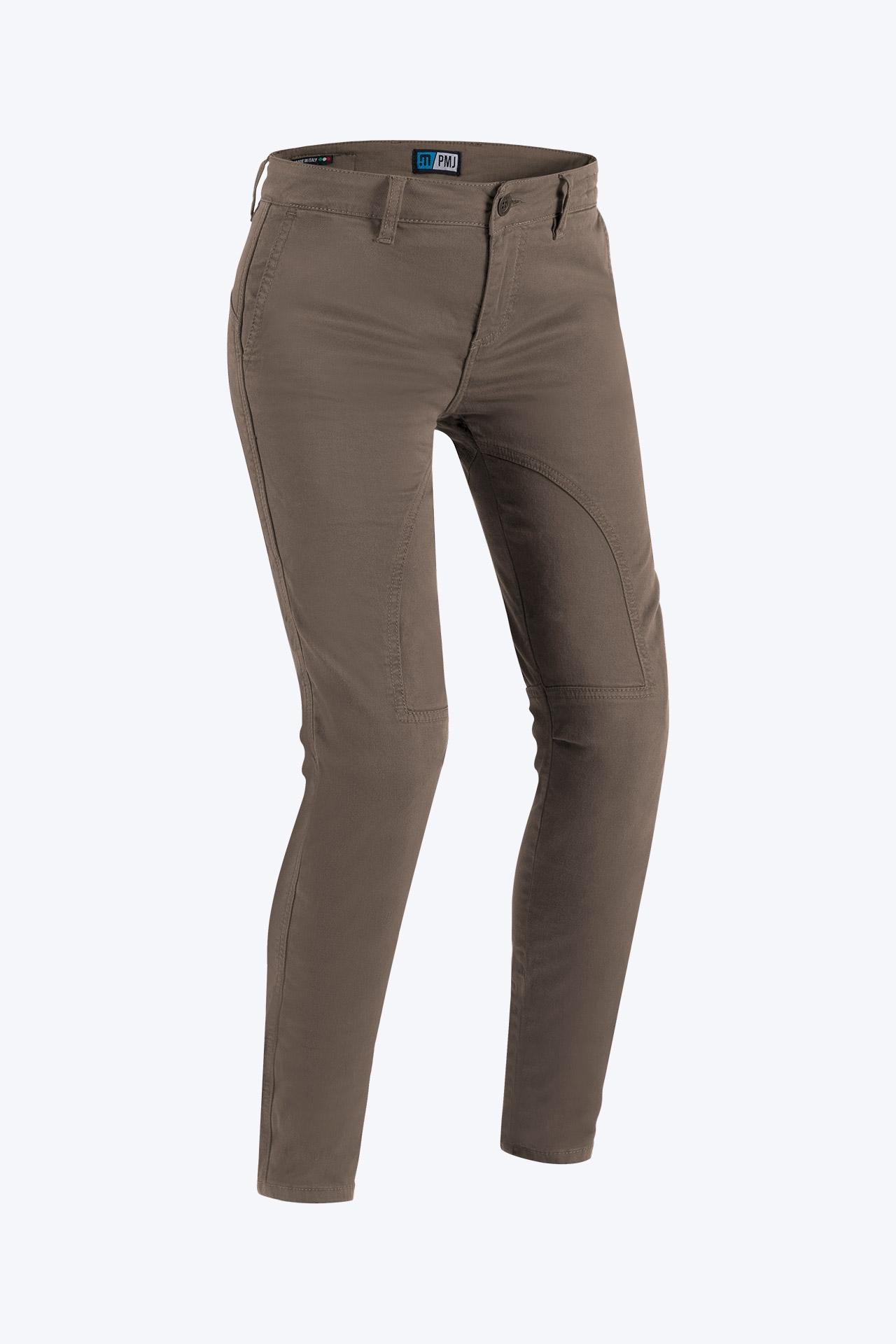 Jeans da moto donna con protezioni e Twaron® PMJ SANTIAGO LADY Avana 1